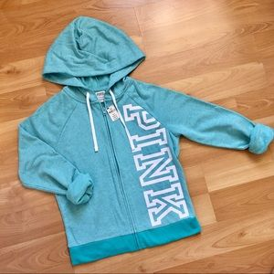 PINK Everyday Perfect Full Zip - Mint